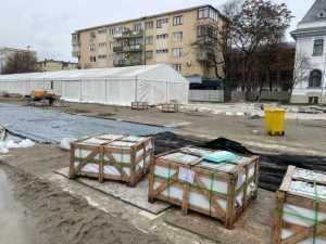 Piața Primăriei Pitești, reabilitată cu granit din India și China, va fi gata pe 20 februarie 10