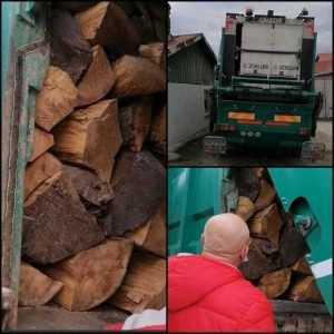 Lemne transportate cu mașina de gunoi, în Argeș. Amendă de 5000 de lei 10