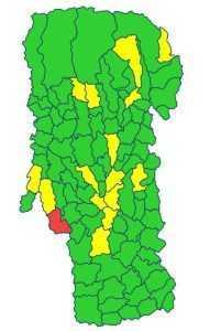 În Argeș, 15 localități sunt în scenariul galben 6
