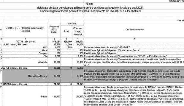 Asta da lovitură! / Guvernul răstoarnă căruţa cu bani în Câmpulung: 12 milioane lei pentru primăriţa Lasconi 2