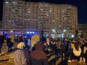 Protest anti - mască și anti-restricții în Piața Milea și în fața sediului PNL 6