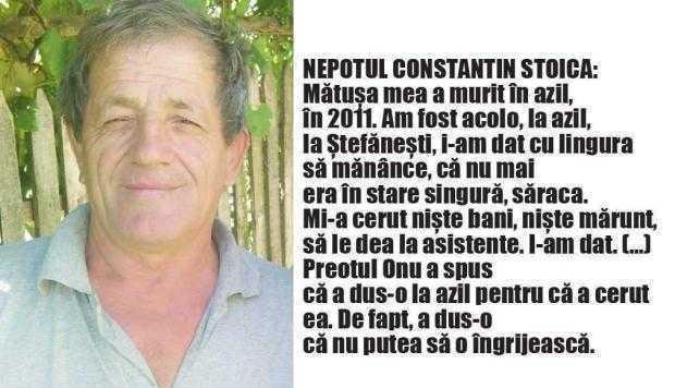 Deşi s-a angajat să o îngrijească, preotul Constantin Onu a dus o bătrână la azil 6