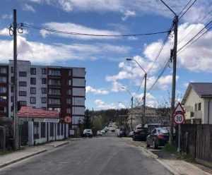 Limitator de viteză amplasat pe o stradă din Pitești 2