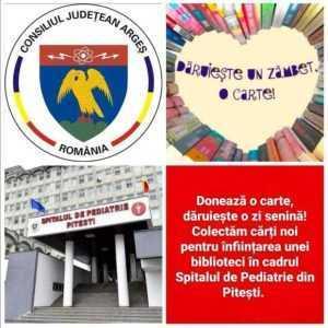 Campanie de colectare cărți pentru copiii internați la Spitalul de Pediatrie Pitești 4