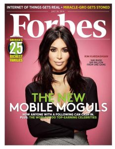 Vedeta de televiziune Kim Kardashian West, inclusă pentru prima dată în topul Forbes al miliardarilor lumii 6