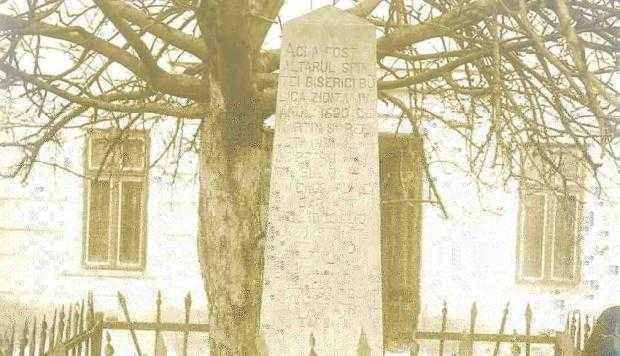 Obelisc  1900  despre  Schitul  Buliga