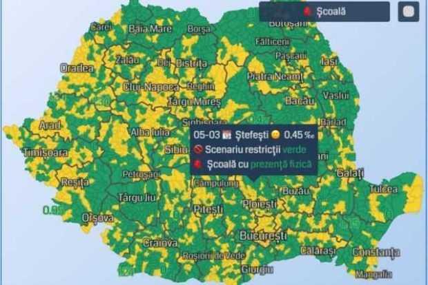 Vezi localitățile argeșene în care elevii încep școala online de mâine 5