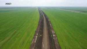 Au apărut primele imagini cu lucrările pe lotul 3 al drumului expres Craiova-Pitești 7