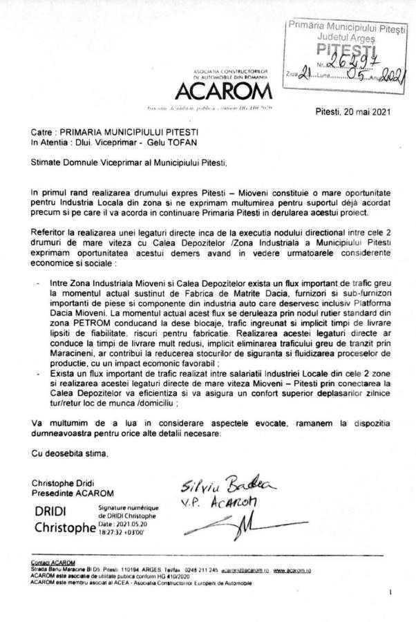 """Declaraţie politică Gelu Tofan, viceprimar Piteşti: """"Execuţia nodului direcţional de la km 118 al A1 asigură o economie de 5 milioane euro la bugetul Piteştiului"""" 6"""