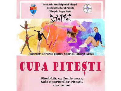 """Concursul de gimnastică """"Cupa Pitești 2021"""" va avea loc la Sala Sporturilor din Trivale 5"""