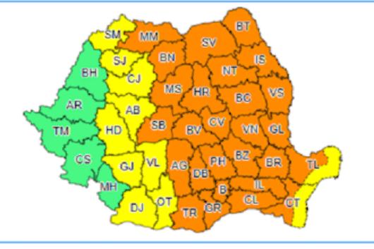 Harta cod portocaliu